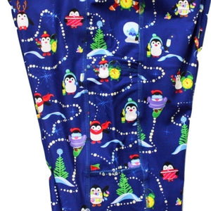 Holiday Penguins full length legging with pockets