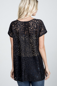 Venture Through the Unknown Lace Top