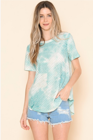 Summer Skies Eyelet Top