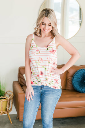 Knot To Be Outdone Top In Blush