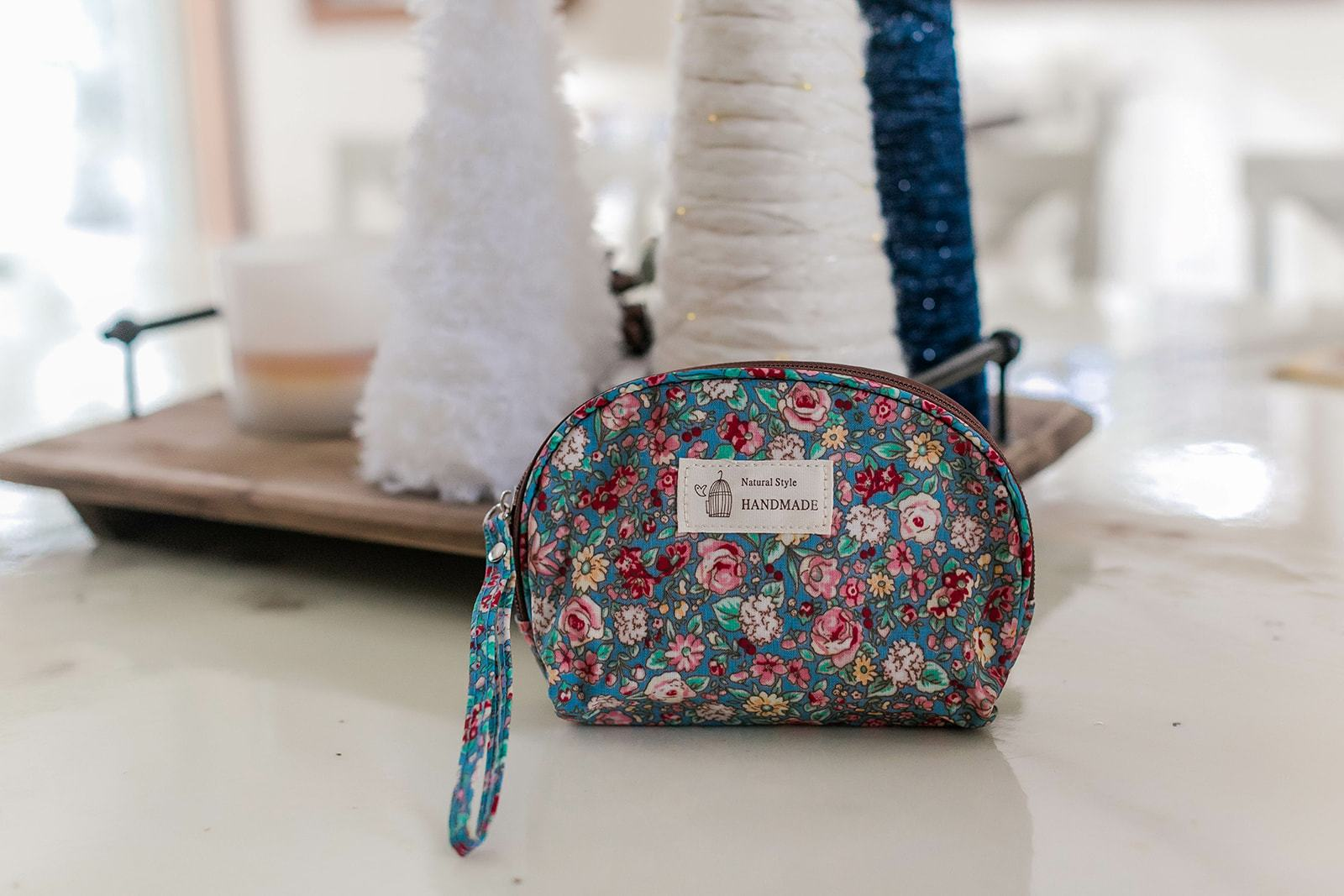 Daily Essentials Floral Cosmetic Bag