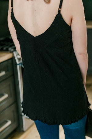 Keep The Faith Sleeveless Top In Black