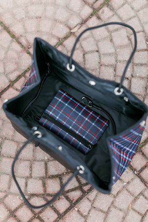 The Be All, Catch All Bag In Peekaboo Bloom Plaid
