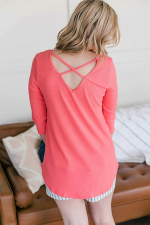 All In For Summer Top In Coral