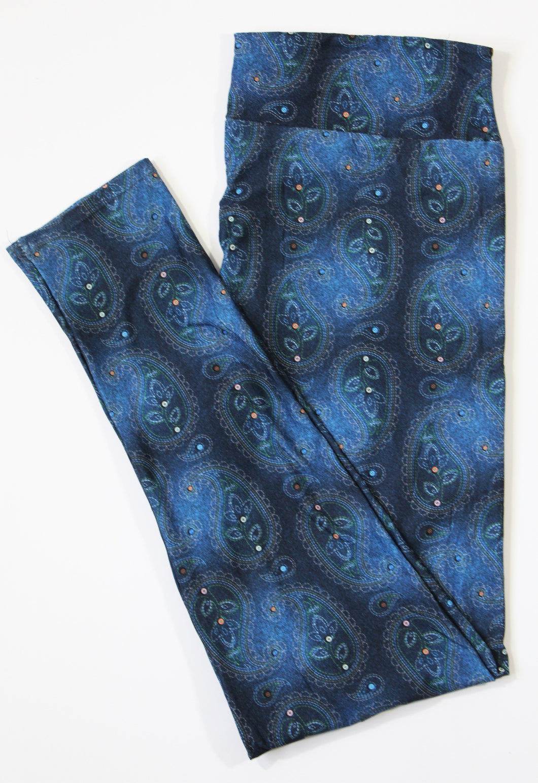 Denim Paisley full length legging with pockets
