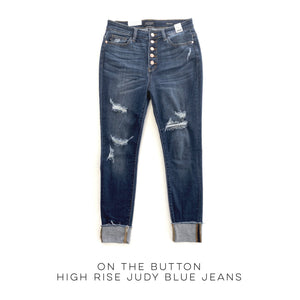 On the Button High Rise Judy Blue Jeans