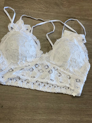 Lace Criss Cross Back Bralette