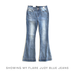 Showing My Flare Judy Blue Jeans