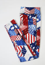 Load image into Gallery viewer, Patriotic full length legging with pockets