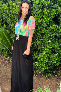 Somewhere Over The Rainbow Maxi Dress