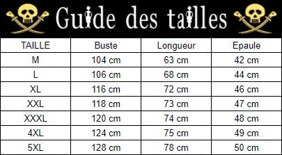 guide taille veste one piece