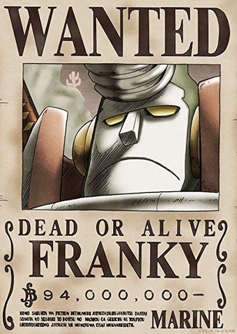 Affiche Wanted Franky One Piece