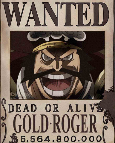 Affiche Wanted Gold Roger One Piece