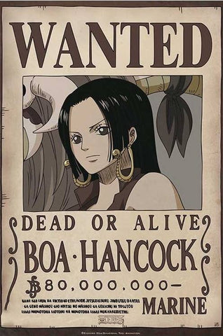 Affiche Wanted Hancock One Piece