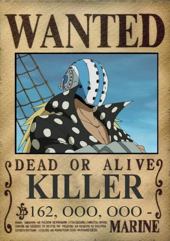 Affiche Wanted Killer One Piece