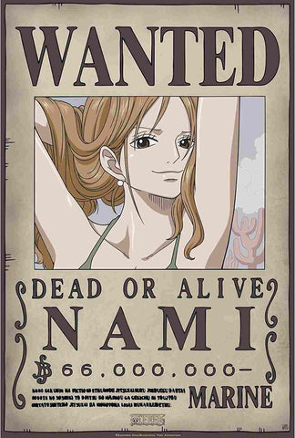 Affiche Wanted Nami One Piece