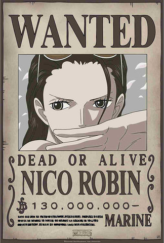 Affiche Wanted Robin One Piece