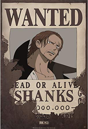 Affiche Wanted Shanks One Piece