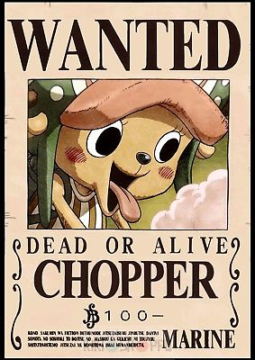 Affiche Wanted Chopper One Piece