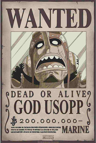 Affiche Wanted Usopp One Piece