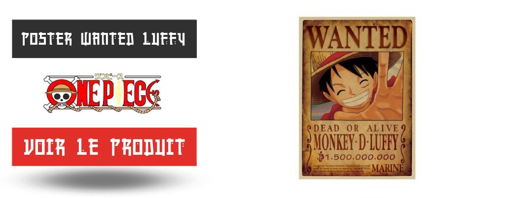 Poster Wanted Luffy