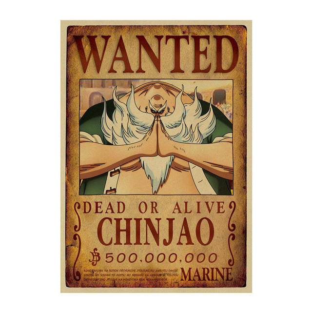 Poster Wanted One Piece Chinjao