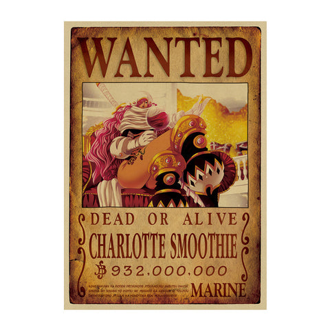 Poster Wanted One Piece Charlotte Smoothie