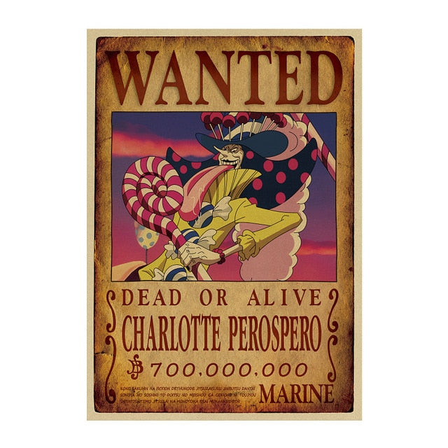 Poster Wanted Perospero One Piece