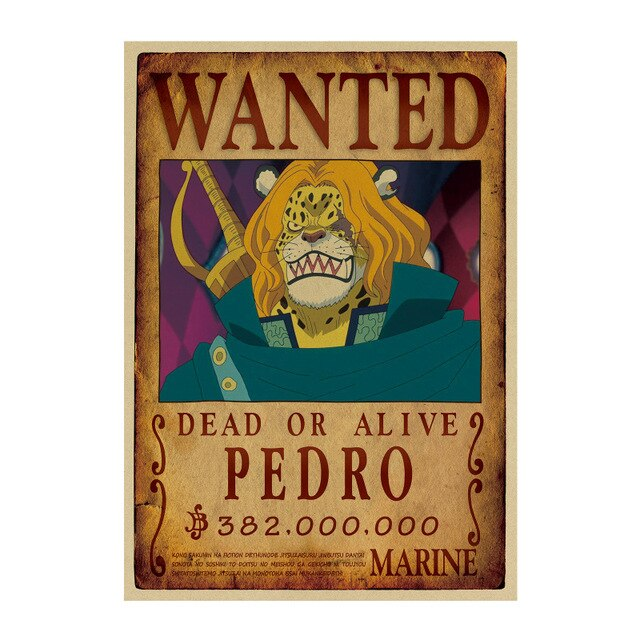 Affiche Wanted Pedro One Piece