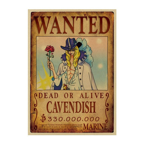 Poster Wanted Cavendish One Piece