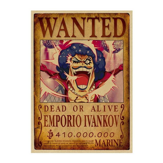 Poster Wanted One Piece Ivankov