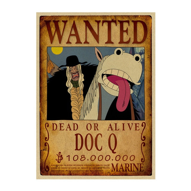 Poster Wanted One Piece Doc Q
