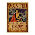 Poster Wanted One Piece Kinemon