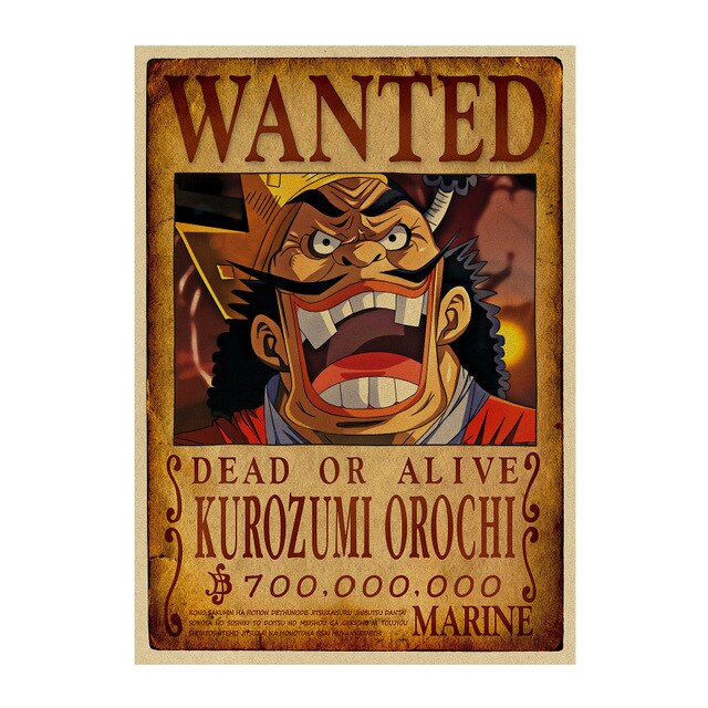 Poster One Piece Wanted Kurozumi Orochi