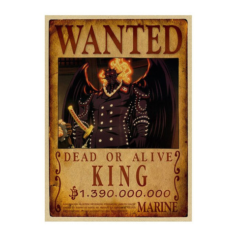 Poster Wanted One Piece King