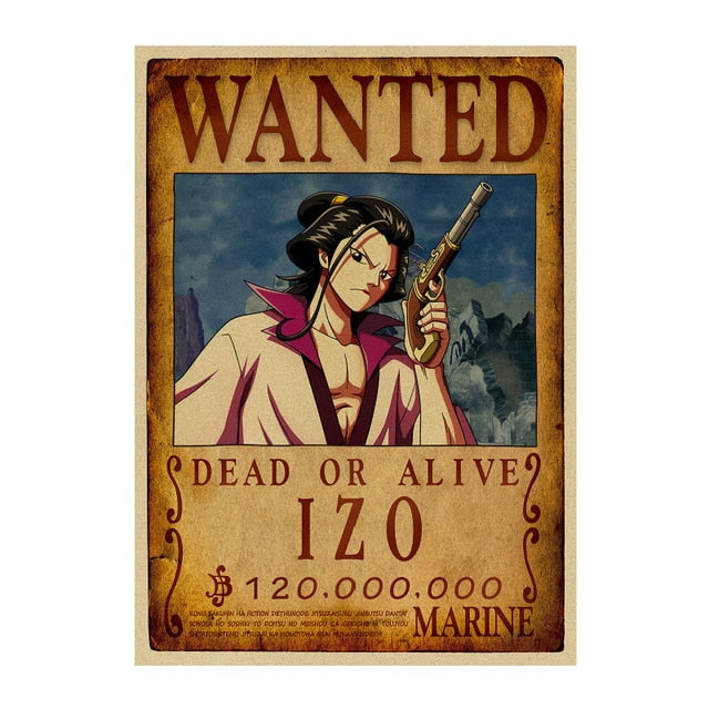 Poster Wanted One Piece Izo