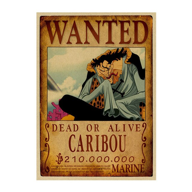 Poster Wanted Caribou One Piece