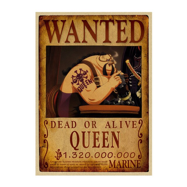 Affiche Wanted Queen One Piece