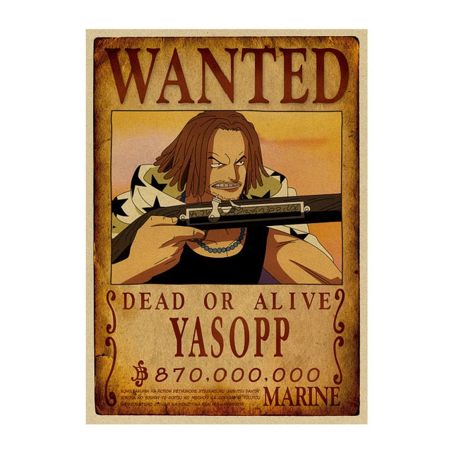 Poster One Piece Wanted Yasopp