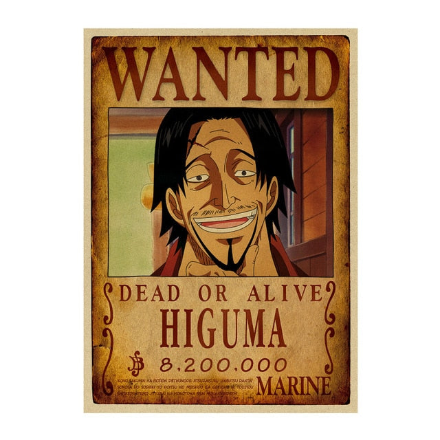 Poster Wanted One Piece Higuma
