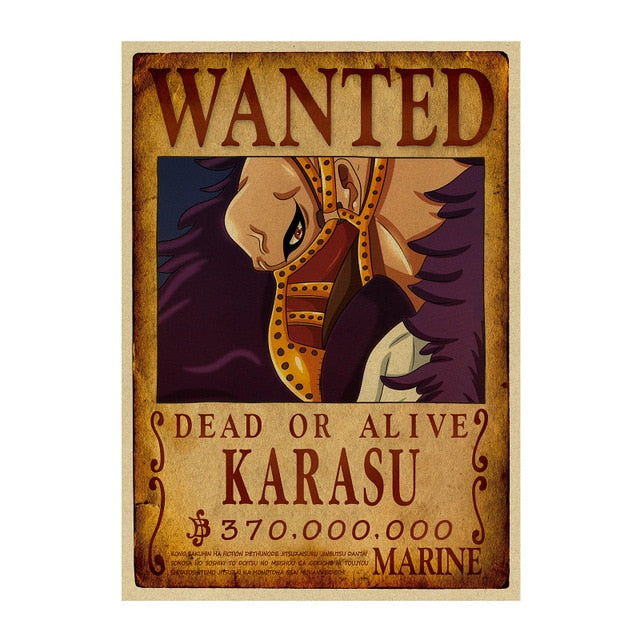 Poster Wanted One Piece Karasu
