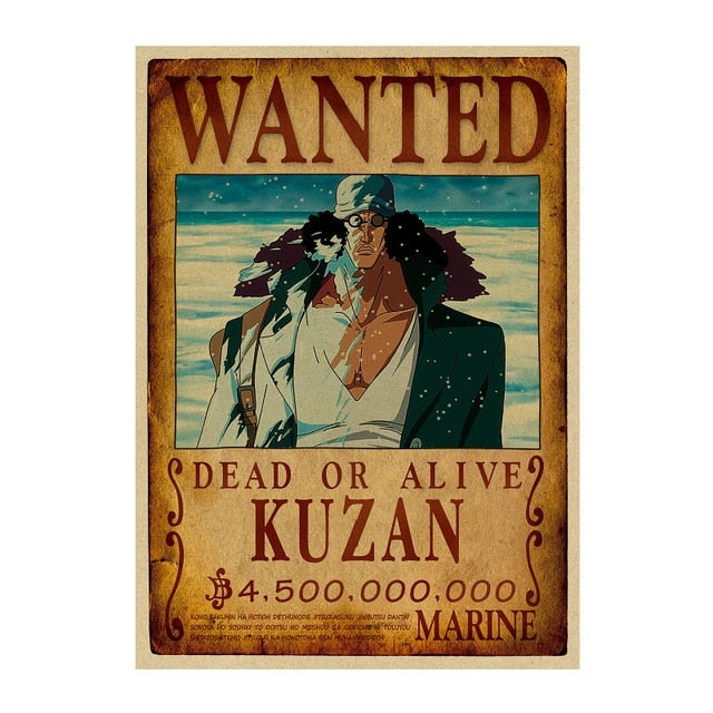 Poster One Piece Wanted Kuzan