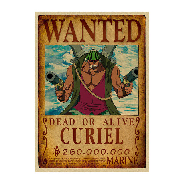 Poster Wanted One Piece Curiel