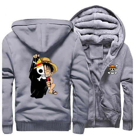 Blouson One Piece Luffy Chibi gris