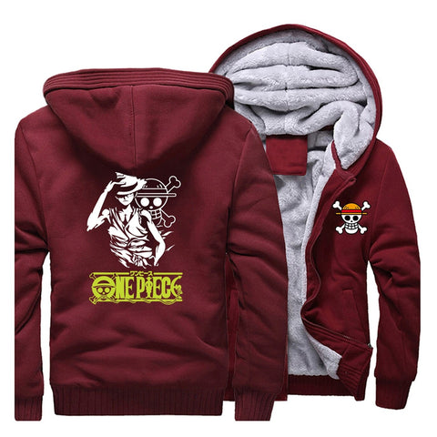 Manteau Luffy Mugiwara One Piece rouge