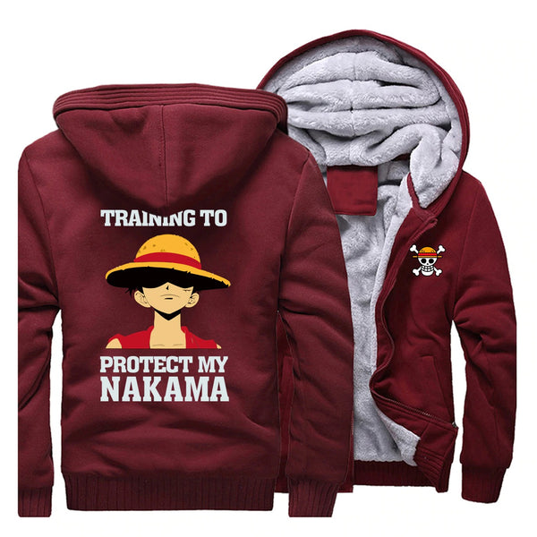 Veste Luffy Training One Piece rouge