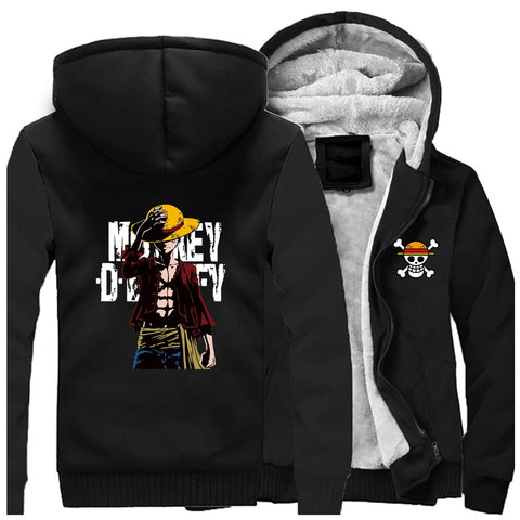Manteau One Piece Monkey D. Luffy noir
