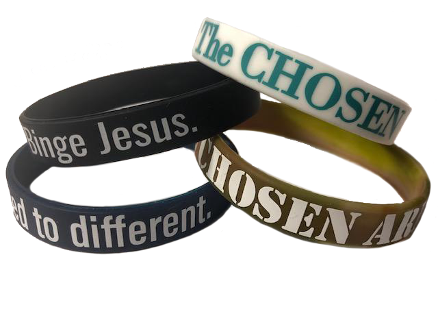 Limited Edition 4 Pack of The Chosen wristbands (While Supplies last)