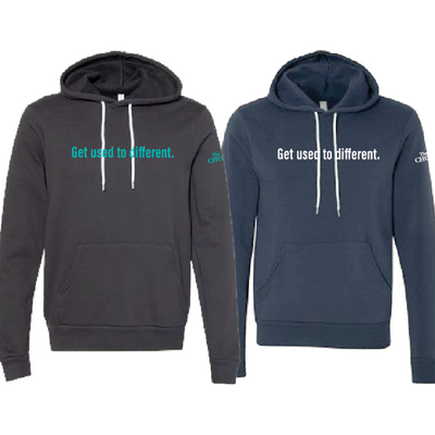 """Get used to different"" Limited Edition Hoodie"