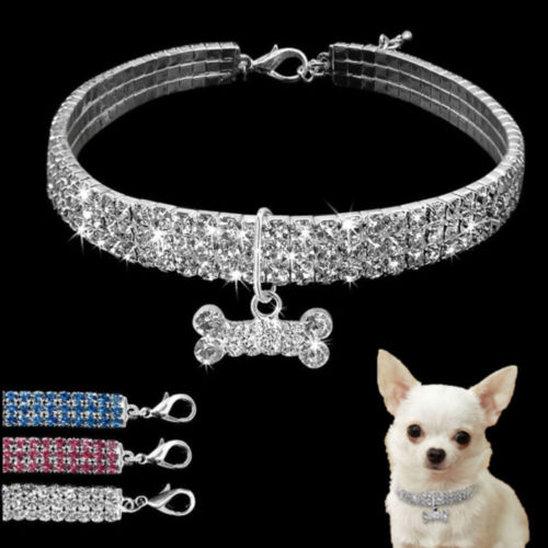 Hot Bling Rhinestone Dog Necklace Collar - Central Pets Products